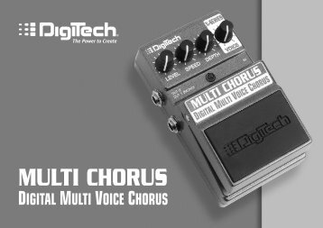 Multi Chorus Manual - V - Digitech