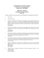 Commission on Human Rights Meeting Agenda: October 26, 2011