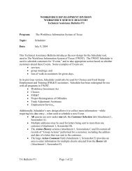TA Bulletin 71: Scheduler - Texas Workforce Commission