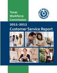 TWC Customer Service Report, 2011-2012 - Texas Workforce ...