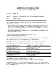 TA Bulletin 257 - Texas Workforce Commission