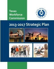 Texas Workforce Commission Strategic Plan Fiscal Years 2013-2017