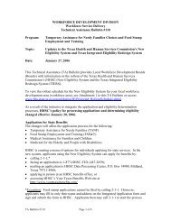 TA Bulletin TA-110 - Texas Workforce Commission