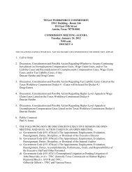 Commission Meeting Agenda: January 24, 2012, 9:00 a.m. - Texas ...