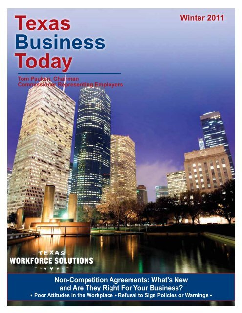 Texas Business Today, Winter 2011 - Texas Workforce Commission