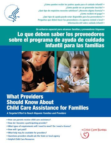 What Providers Should Know About Child Care Assistance for ...
