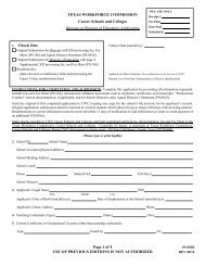 Form PS-002B - Texas Workforce Commission