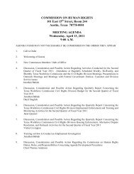 Commission on Human Rights Meeting Agenda: April 13, 2011