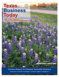 Texas Business Today - Texas Workforce Commission