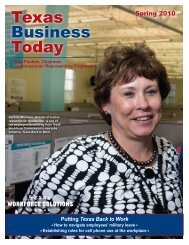 Newsletter: Texas Business Today, Spring 2010 - Texas Workforce ...