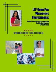 LEP Guide for Workforce Professionals: Module 3 - Texas Workforce ...