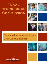 Trade Adjustment Assistance 2010 Annual Report - Texas ...