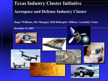Aerospace and Defense Cluster Briefing - Texas Workforce ...