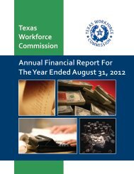 FY 2012 Financial Report - Texas Workforce Commission