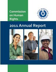 FY 2011 Commission on Human Rights Annual Report - Texas ...