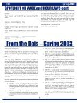 Newsletter: Texas Business Today, Spring 2003 - Texas Workforce ... - Page 5