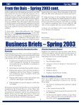 Newsletter: Texas Business Today, Spring 2003 - Texas Workforce ... - Page 7