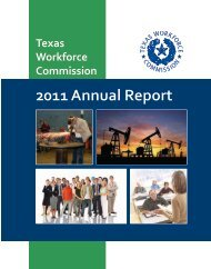 Texas Workforce Commission 2011 Annual Report