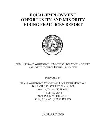Equal Employment Opportunity and Minority Hiring Practices Report ...