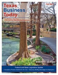 Texas Business Today, Fall 2011 - Texas Workforce Commission