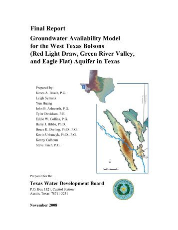 Groundwater Availability Model for the West Texas Bolsons (Red ...