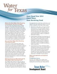 State Fiscal Year 2013 Clean Water State Revolving Fund