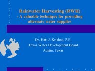 Rainwater Harvesting - Texas Water Development Board