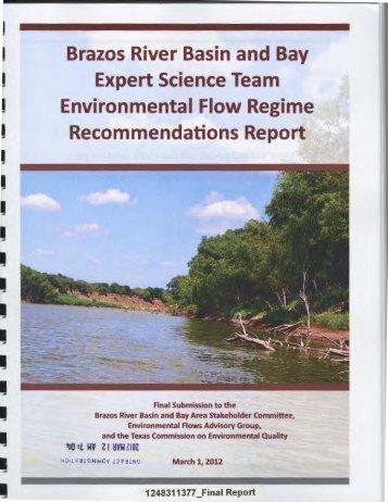 Brazos River Environmental Flow - Texas Water Development Board ...