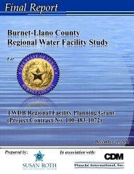 Final Report - Texas Water Development Board