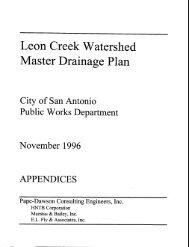leon creek watershed - Texas Water Development Board