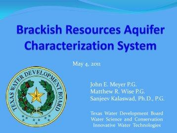 BRACS - Texas Water Development Board