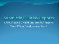 Submitting Outlay Reports Final - Texas Water Development Board