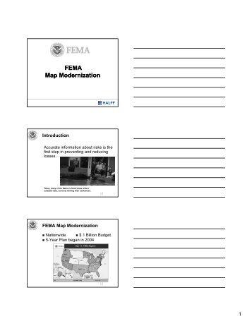 FEMA Map Modernization