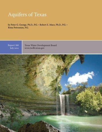 Aquifers of Texas - Texas Water Development Board