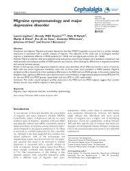 Migraine symptomatology and major depressive disorder - CiteSeerX