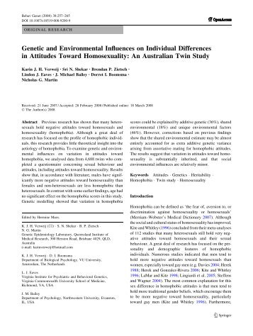 Genetic and Environmental Influences on Individual Differences in ...