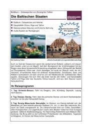 Die Baltischen Staaten - Twerenbold Reisen AG