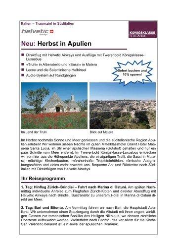 Neu: Herbst in Apulien - Twerenbold Reisen AG