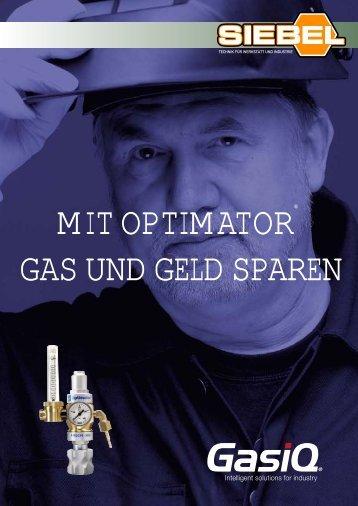 mit optimator gas und geld sparen - bei SIEBEL - Technik für ...