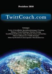 Preisliste 2010 - TwittCoach