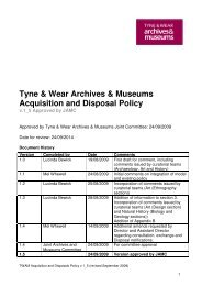 Tyne & Wear Archives & Museums Acquisition and Disposal Policy