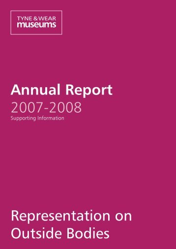 Annual Report 2007-2008 Representation on Outside Bodies