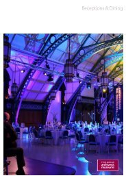 Receptions & Dining - Tyne & Wear Museums