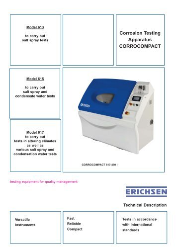 Corrosion Testing Apparatus CORROCOMPACT