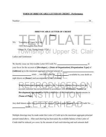 Letter of Credit Form