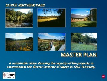 Boyce Mayview Park Master Plan Presentation - Township of Upper ...