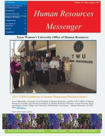 Volume 30 - Texas Woman's University