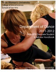 Table of Contents - Texas Woman's University