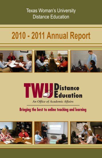 2010 - 2011 Annual Report - Texas Woman's University