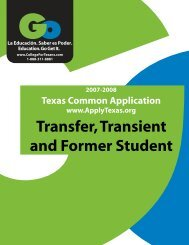 The latest version - Texas Higher Education Coordinating Board